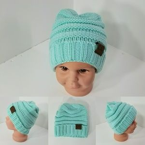 Other - Baby Beanie hats thermal protective outdoor Teal